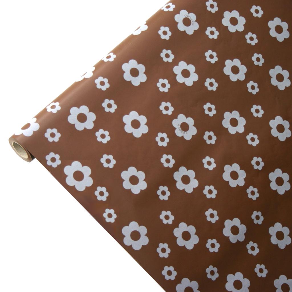 50m*0,75m JUNOPAX® Papiertischdecke Blüte braun