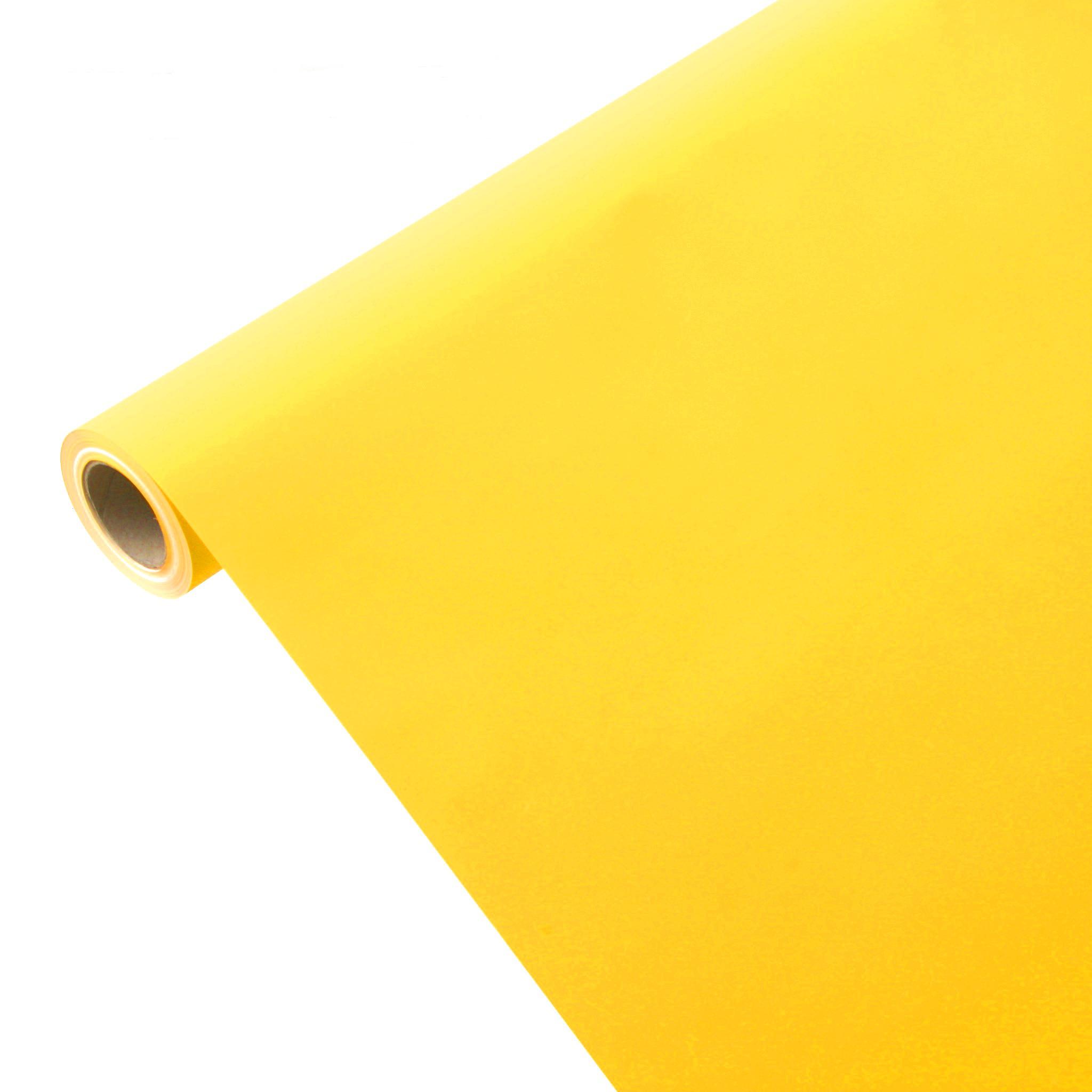 50m*1,00m JUNOPAX® Geschenkpapier sonnen-gelb