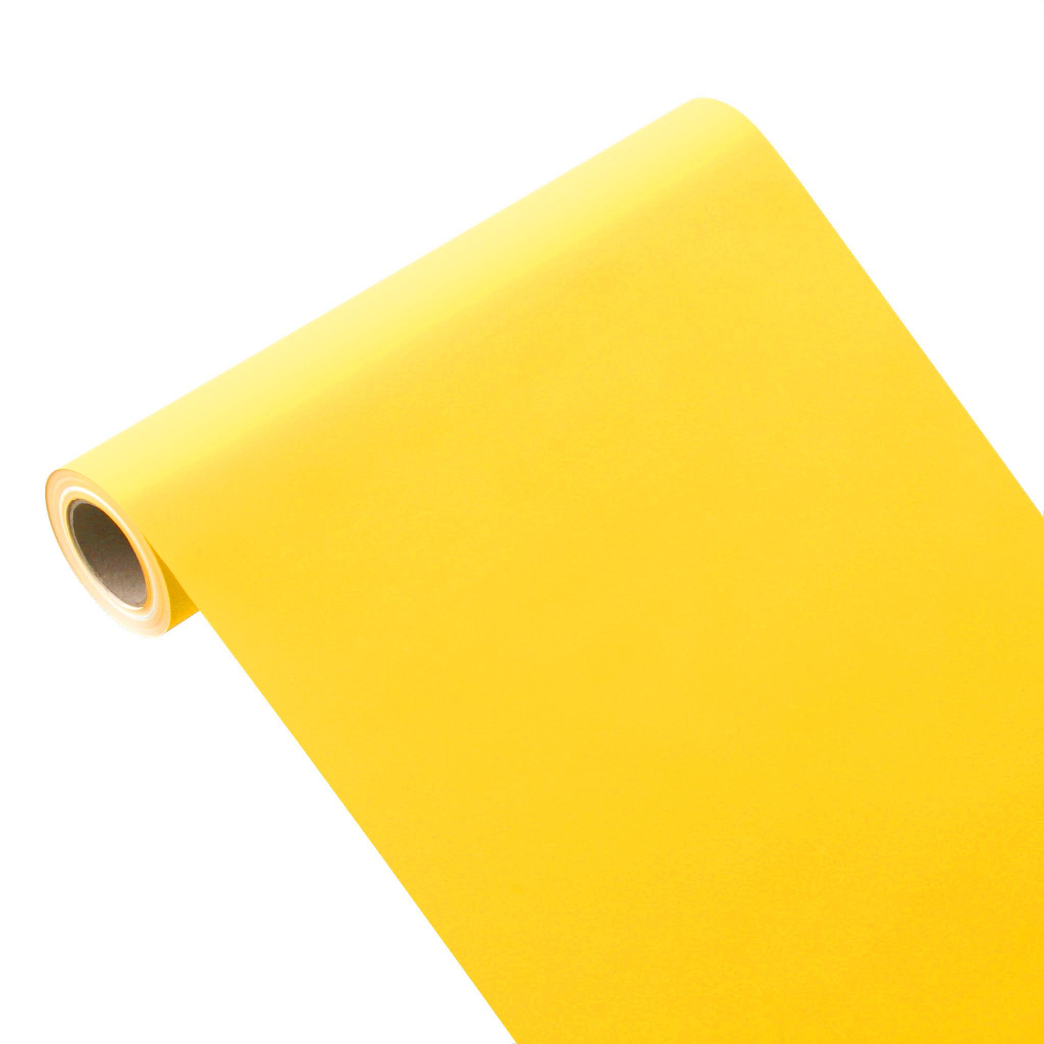 50m*0,40m JUNOPAX® Geschenkpapier sonnen-gelb