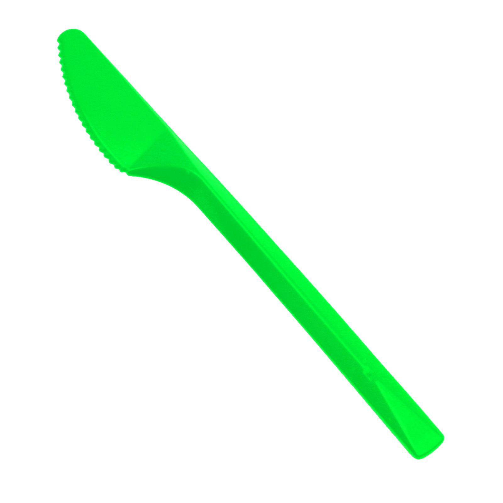 20 Party-Messer Plastik grün