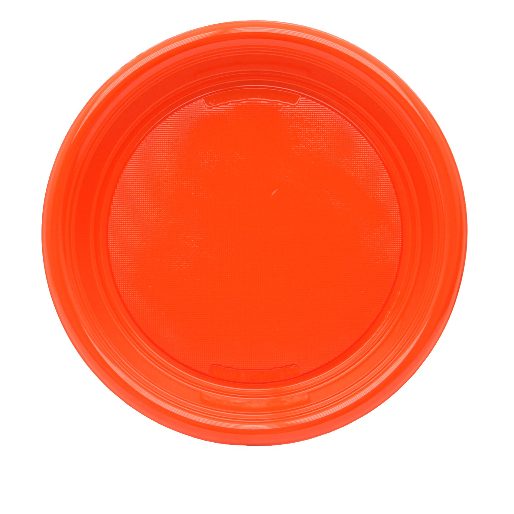 30 Party-Teller Plastik rund 22 cm orange